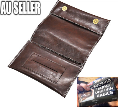 Cigarette Tobacco Pouch Leather Bag Case Holder Wallet Filter Rolling Paper Gift