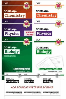 Foundation Gcse Aqa Separate Science Biology Chemistry Physics Workbook Revision