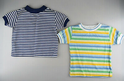 Pair Vintage Toddler Boys Shirts Tops Size 2-3 Year HealthTex Fawn Togs Stripes