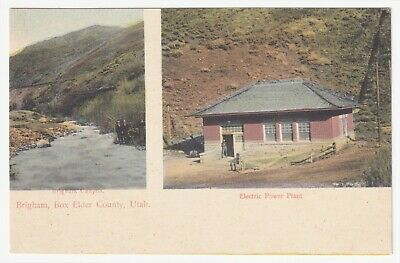 Utah Brigham Box Elder County Canyon And Electric Power Plant Issued Circa 1907