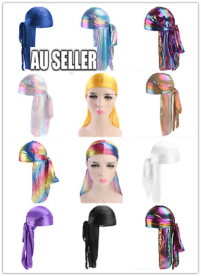 Silky Velvet Spandex Durags Du Rag Cap Doo Rag Skully Chef Pirate 11 Colors 2020