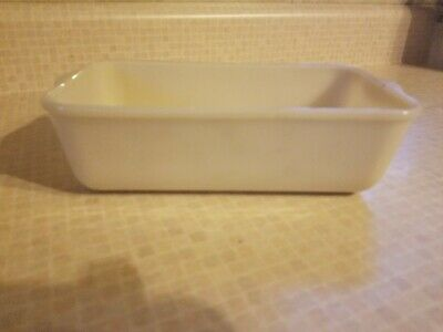 RARE Vintage Fire King Loaf Pan Ivory Milk Glass BEAUTIFUL