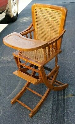 Antique High Chair Rocker