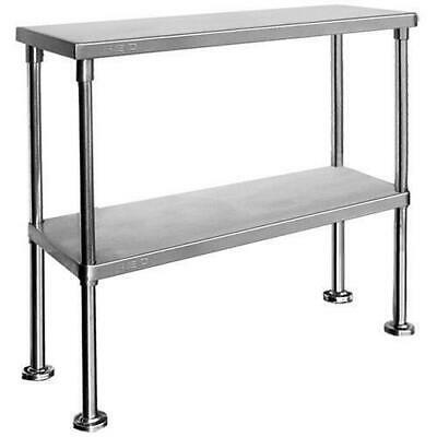 Overshelf for Benches, Double Tier, Stainless Steel, 1800x300x750mm, Kitchen