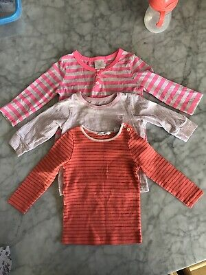 Seed Heritage Baby Long Sleeve Tops X 3 Size 0 6-12 Months Country Road CottonOn