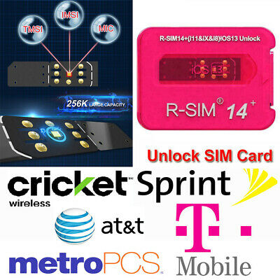 New RSIM 12+ V16 R-SIM Nano Unlock Card fits iPhone XS/X/8/7/6/6s/5s 4G iOS 12.4