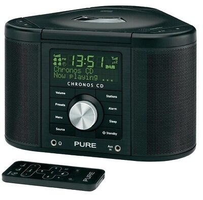 Pure Chronos Cd Series Ii Dab Digital Alarm Clock Radio Black Cd Player Usb