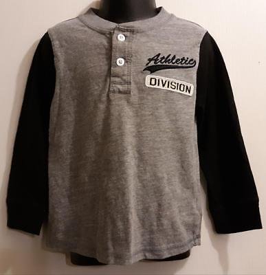 Grey & Black 'Athletic Division' Long Sleeve Shirt by Healthtex - Boy's 3T