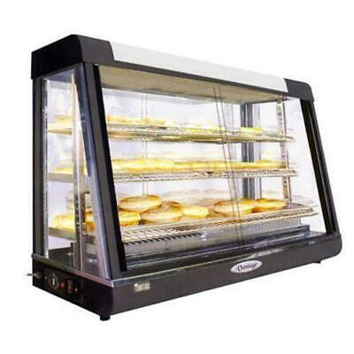 Pie Warmer & Hot Food Display, Angled Front Heated Presentation 900x490x610mm