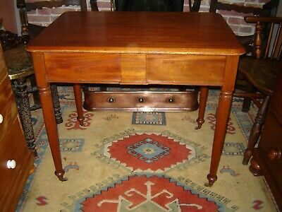 Victorian mahogany side table with frieze drawers