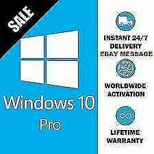 Windows 10 Pro 32/64 Bit Win 10 Véritable Clé D'Origine Licence...