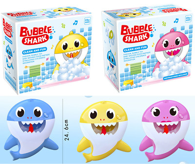 Bubble Machine Baby Shark Automatic Bubble Machine Party Toy Bath Toys For Kids