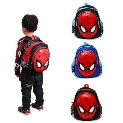 Waterproof Kids School Backpack For Boys Child Spiderman Book Bags 3-6 Years Old