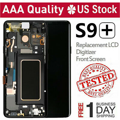 For Samsung Galaxy S9 Plus S9+ LCD Digitizer Touch Screen Replacement With Frame