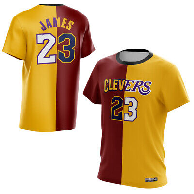 LeBron James 23# CLEVERS Shirt Dry-Fit  Shirt Fashion Los Angeles Lakers Top