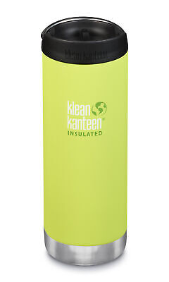 Klean Kanteen TKWide 473ml Insulated Juicy Pear Café Cap - Hot & Cold Bottle