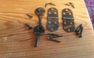 ANTIQUE Singer Sewing Machine Treadle   Head & Flip Top Hinges Set