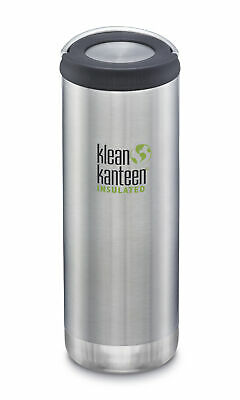 Klean Kanteen TKWide 473ml Insulated Brush Stainless Wide Loop Cap - Hot & Cold