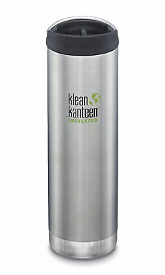 Klean Kanteen TKWide 592ml Insulated Brushed Stainless Café Cap - Hot & Cold