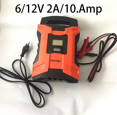 6/12V 2A/10.Amp Intelligent Car&Motorcycle Smart Battery Charger
