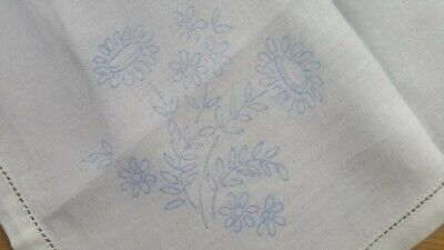 Beautiful Unworked Vintage Tray Cloth / Doily – Traced Linen Embroidery