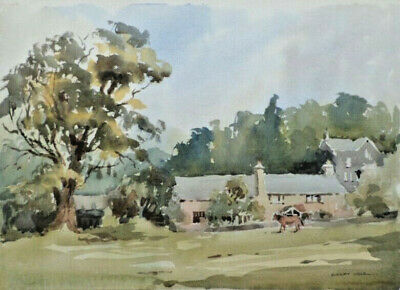 SYDNEY VALE FRSA - CUNSEY FARM WINDERMERE - 20th C ORIGINAL VINTAGE WATERCOLOUR