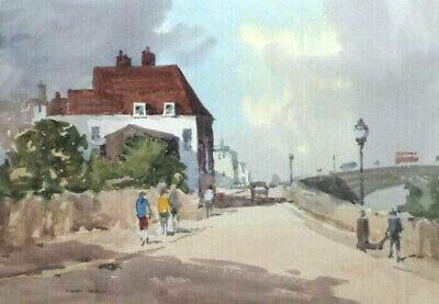 SYDNEY VALE FRSA - CHEYNE WALK BATTERSEA - 20th C ORIGINAL VINTAGE WATERCOLOUR