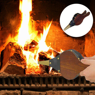 Fireplace Blower Manual Wooden Anti-Mouldy Crafts Turbine Barbecue Supplies New