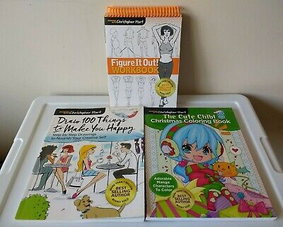 Lot of 3 Drawing with Christopher Hart Art Books
