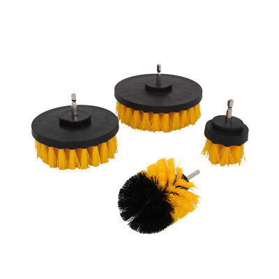 4Pcs Cleaning Drill Brush Cleaner Tool Set Electric Drill Power Scrubber for Car