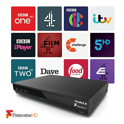 Humax HDR-1800T Freeview+ HD 320GB Smart Digital TV Recorder Twin Tuner