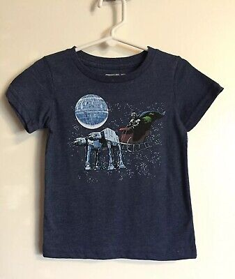 STAR WARS Darth Vader Santa Sleigh AT-AT Christmas T-Shirt Toddler 2T NWT