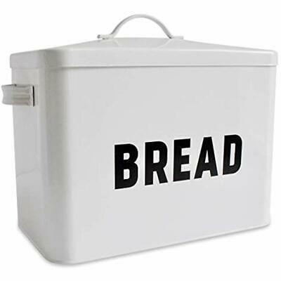 Metal Bread Box - Countertop Space-Saving, Extra Large, High Capacity Storage 2+