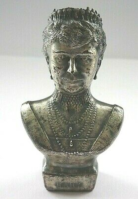 Britains Quite Rare Metal Bust Of Queen Mary Silver Wedding Jubilee 1935