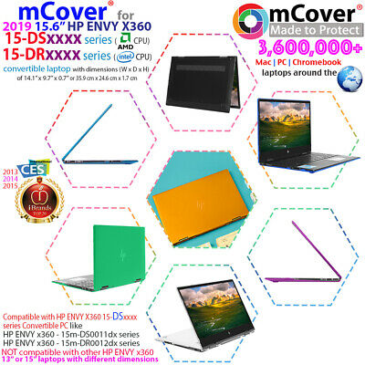 "NEW mCover® Hard Shell Case for 15.6"" HP ENVY X360 15-DSxxxx 15-DR0000 laptop"