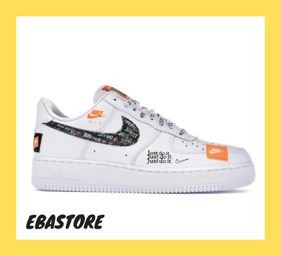 Nike Air Force 1 Just Do It '07 LV8 Utility White Black  Uomo Shoes AR7719-100
