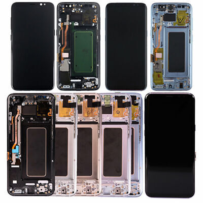 Touch For Samsung Assembly LCD Galaxy US Digitizer S8 Screen + Frame OEM Display