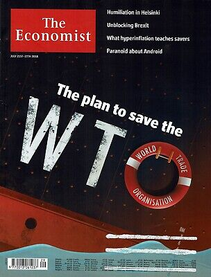 The Economist 21 July 2018 WTO Helsinki Brexit Hyperinflation Android