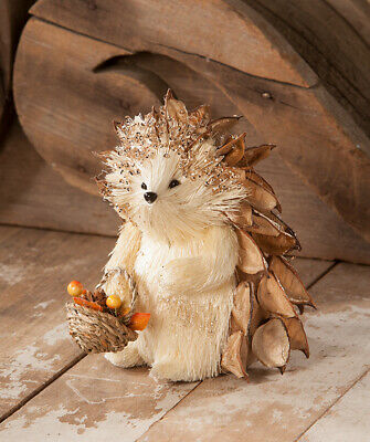 Bethany Lowe Thanksgiving Fall Harvest Harry Hedgehog WithBasket New 2019 RL8139