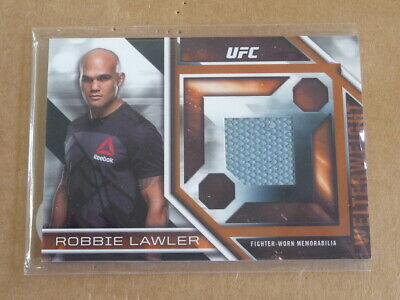 2017 Topps UFC Knockout Robbie Lawler Lucha Tapete Relic / 130 E6659