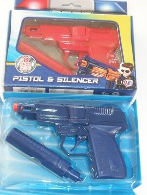 TOY S.W.A.T. Die Cast Metal Cap Gun Red,Blue with Orange Tip to Comply EU Rules