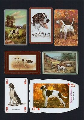 Pointer Mounted Collection Of Vintage Dog Playing Cards Great Gift