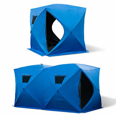 Outsunny Pop-up Ice Shelter Ice Fishing Tent Outdoor Portab 2 size