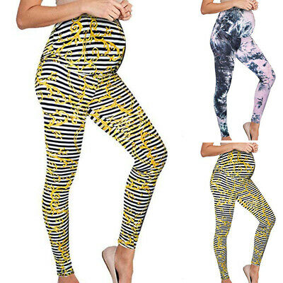 Pregnant Women's Casual High Waist Leggings Warm Maternity Elastic Pants Trouser