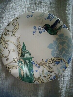 Lenox Dinner Plate Collage Hummingbird Alice Drew Birdcage Floral 10.75""