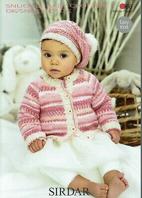 Sirdar Baby/ Childs Dk Cardigan And Beret Knitting Pattern 1966
