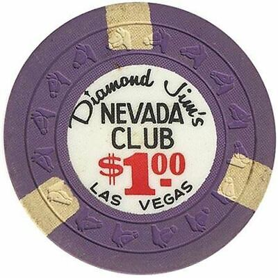 Nevada Club (Diamond Jim's) Casino Las Vegas NV $1 Chip 1963