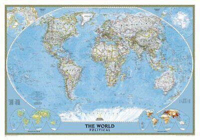 The World: Political by National Geographic Maps (Sheet map, 2004)