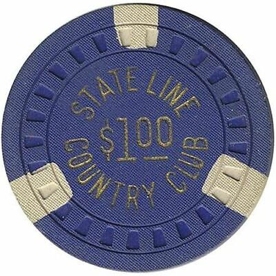 Stateline Country Club Casino Lake Tahoe NV $1 Chip 1953