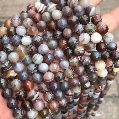 Natural Persian Agate Loose Beads Making Jewelry 15 inches Top Hole Strand